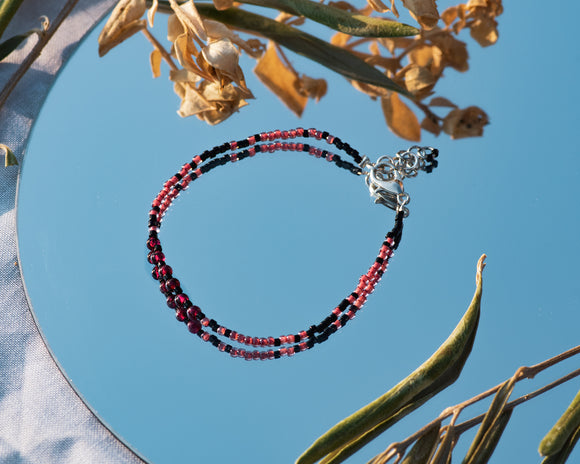 Pomegranate Gemstone Bracelet