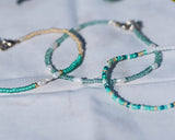 Aqua Genuine Pearl Bracelet Set