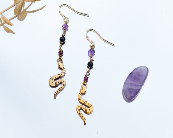 Malificent Serpent Earrings