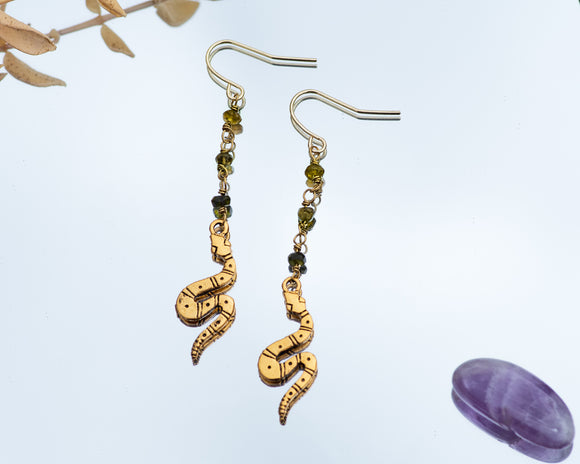 Slytherin Serpent Earrings