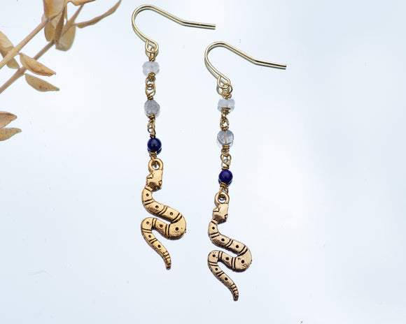 Artemis Serpent Earrings