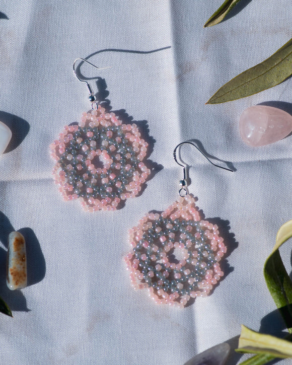 Silver Accent Mandala Earrings