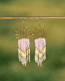 Spring Lotus Fringe Earrings ONE OF A KIND