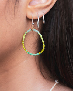 Ombré Beaded Hoops