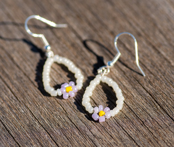 Daisy Drop Hoops