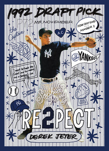 1992 Derek Jeter by Sophia Chang Silver Artist Autograph /  Edition of 20