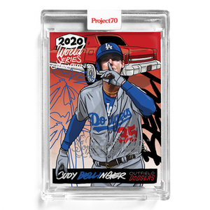 Cody Bellinger by Sophia Chang Silver Autograph  /  Edition of 7
