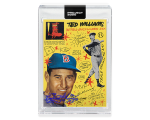 Ted Williams by Sophia Chang Blue Auto  /  Edition of 7