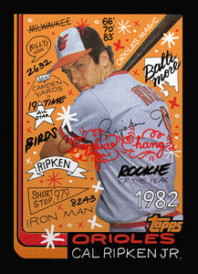 Cal Ripken by Sophia Chang Red Artist Autograph  /  Edition of 10