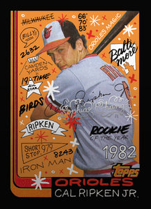 Cal Ripken by Sophia Chang Silver Artist Autograph /  Edition of 7