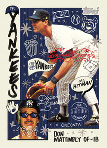 Don Mattingly by Sophia Chang Red Artist Autograph  /  Edition of 20