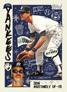 Don Mattingly by Sophia Chang Silver Artist Autograph  /  Edition of 10