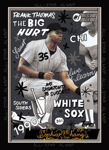 Frank Thomas by Sophia Chang Gold Artist Autograph /  Edition of 5