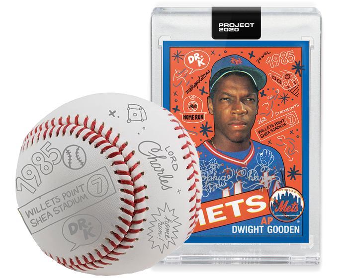 Doc Gooden  by Sophia Chang Silver Autograph + Ball / Edition of 2