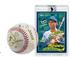 Ken Griffey Jr by Sophia Chang Gold Autograph + Ball / Edition of 1