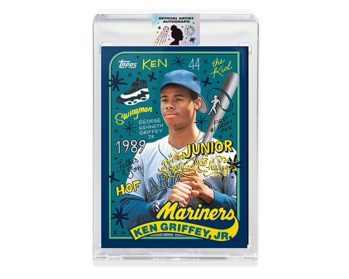Ken Griffey Jr by Sophia Chang Yellow Autograph / Edition of 20