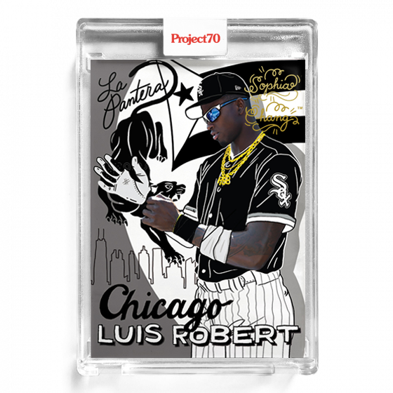Luis Robert by Sophia Chang Gold Autograph  /  Edition of 25