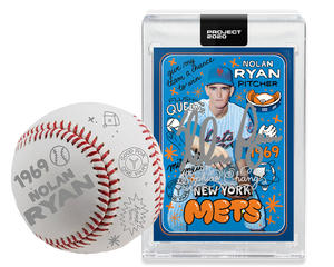 Nolan Ryan by Sophia Chang Dual Silver Autograph + Ball/ Edition of 3
