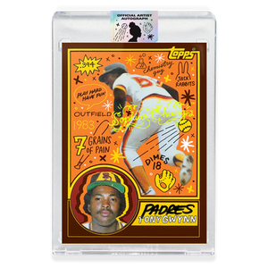 Tony Gwynn by Sophia Chang Yellow Autograph / Edition of 20