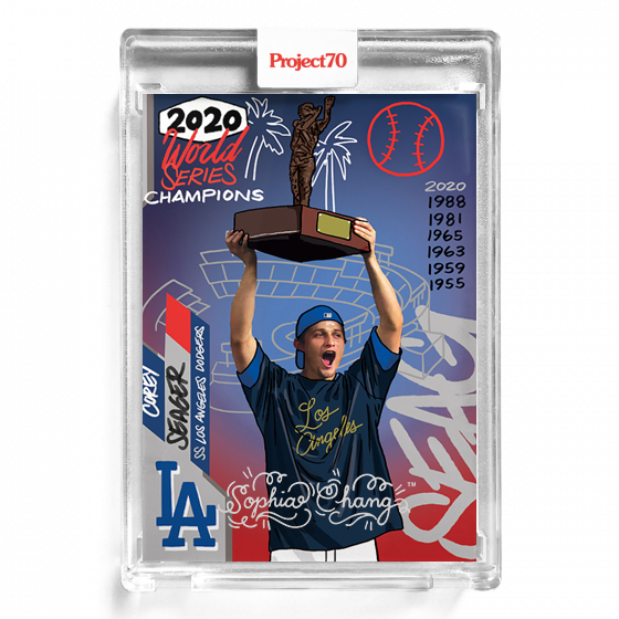 Corey Seager by Sophia Chang Silver Autograph  /  Edition of 25