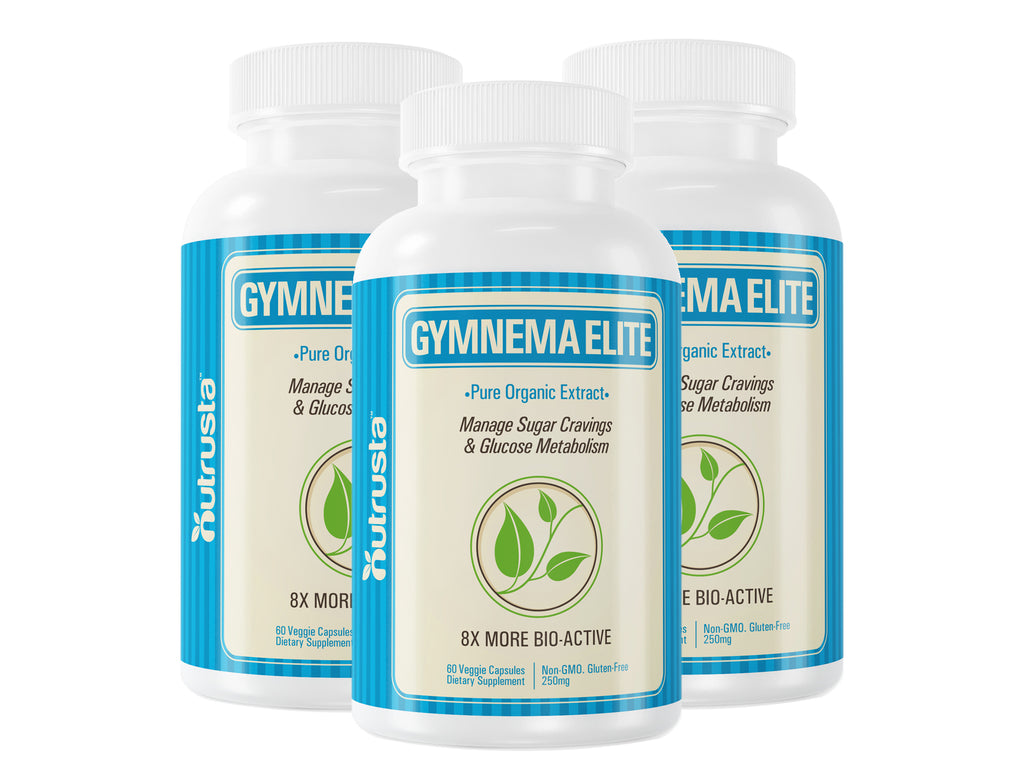 Gymnema Elite - Patented Organic Gymnema Sylvestre Leaf Extract, 60 Vegetarian Capsules, clinically proven sugar support supplement, 3 Bottles (Save 10%), 6 Bottles (Save 15%)