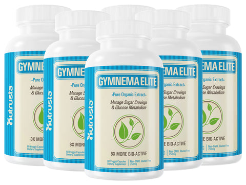 Gymnema Elite, 8X Higher Insulin* Patented Gymnema Sylvestre Organic Leaf Extract Clinically Proven, 60 Veg Caps, 60 Days