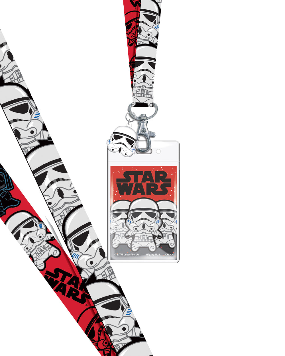 Star Wars Stormtroopers Lanyard - The Pink a la Mode - Monogram - The Pink a la Mode