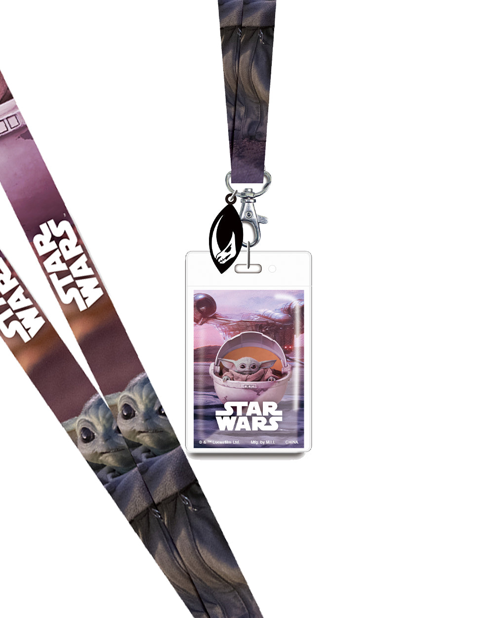 Star Wars The Mandalorian Lanyard - The Pink a la Mode - Monogram - The Pink a la Mode