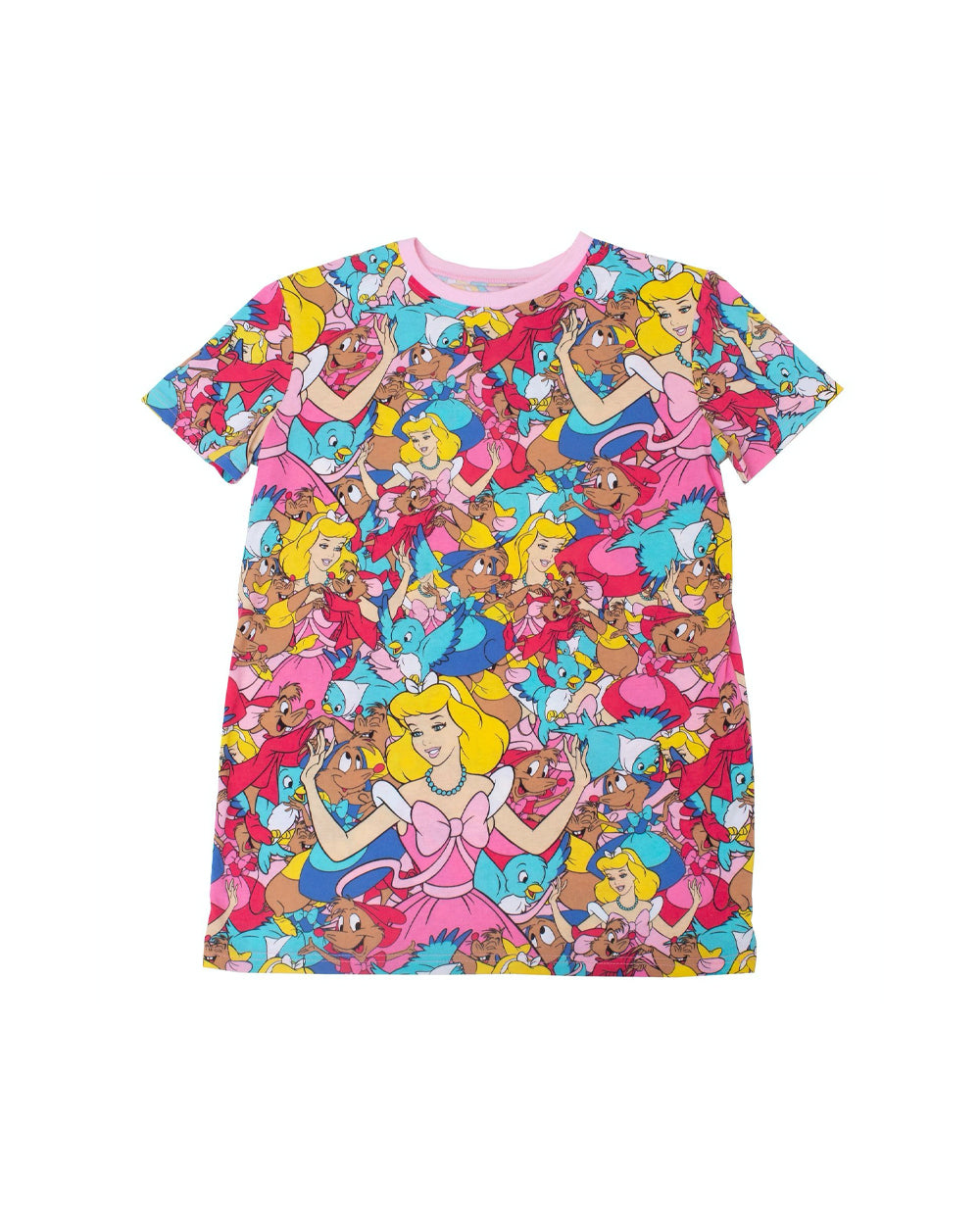 Cakeworthy - Disney Cinderella AOP Unisex Tee - The Pink a la Mode