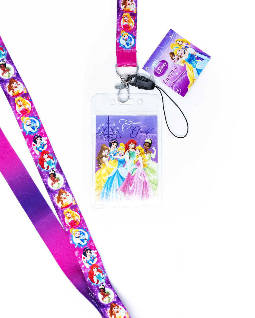 Disney Princesses Elegant and Graceful Break Away Lanyard - The Pink a la Mode - Monogram - The Pink a la Mode