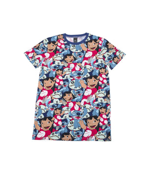 Cakeworthy - Disney Lilo & Stitch AOP Unisex Tee - The Pink a la Mode - Cakeworthy - The Pink a la Mode