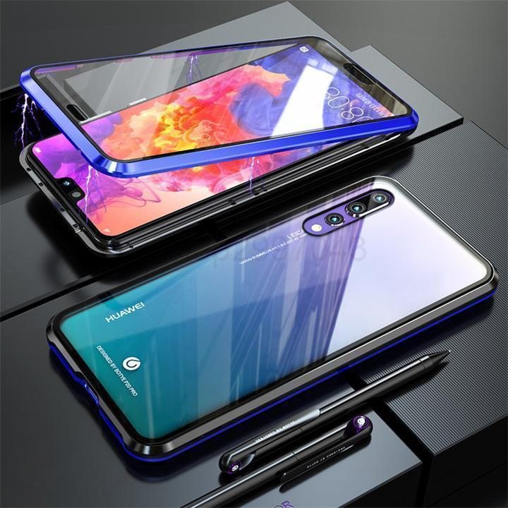 Front Back Glass Magnetic Adsorption Metal Case Cover For Huawei P20 P20 Pro P20 Lite Mate 20Lite Nova 3i P smart 2019
