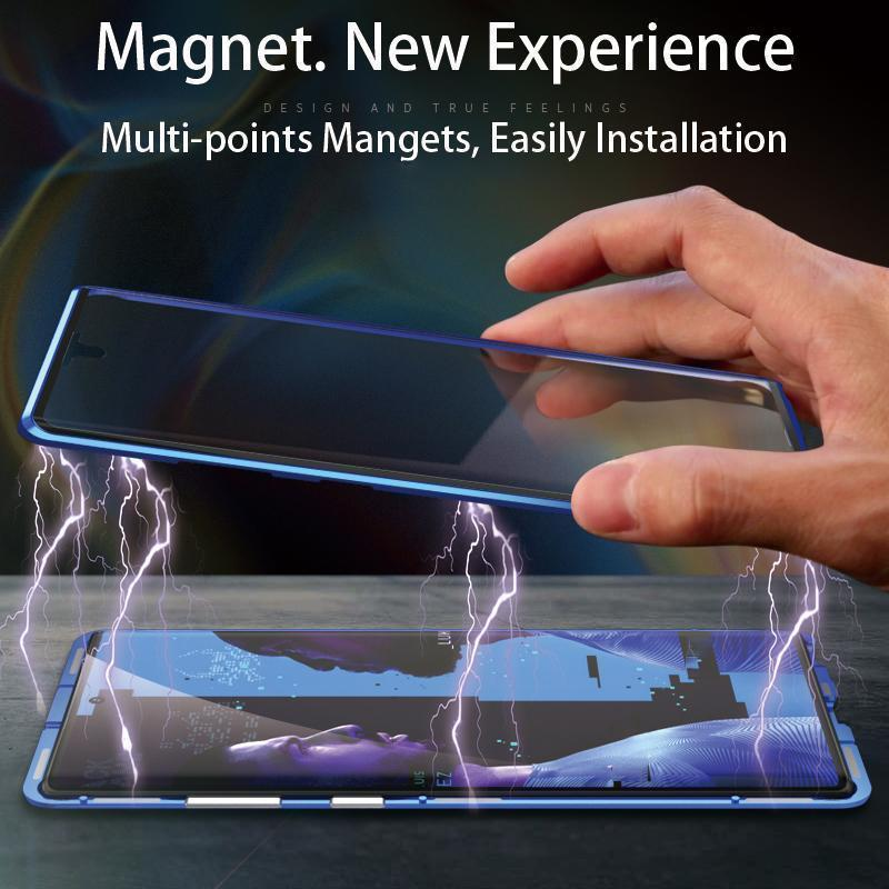 Upgraded Two Side Tempered Glass Magnetic Adsorption Phone Case for Samsung S20 S20 Plus S20 Ultra Note 10 10Plus 5G 20 20Ultra 5G
