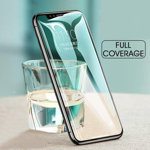 2 Pieces Full Coverage Tempered Glass Screen Protector for iPhone X XS MAX XR 8 Plus 7 Plus 8 7 6S Plus 6 Plus