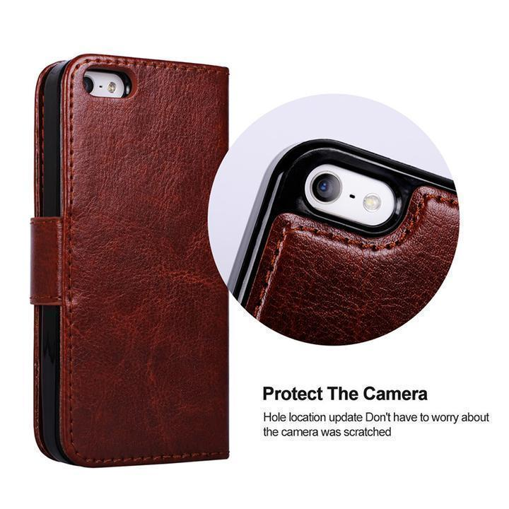 2-in-1 Genuine Leather Wallet Card Magnetic Detachable Phone Case For iPhone XS Max XR XS X 7Plus 8Plus 7 8