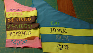 Personalized Dog bandanas