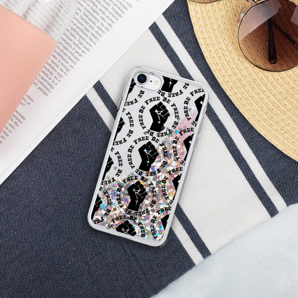 Be Free Liquid Glitter Phone Case