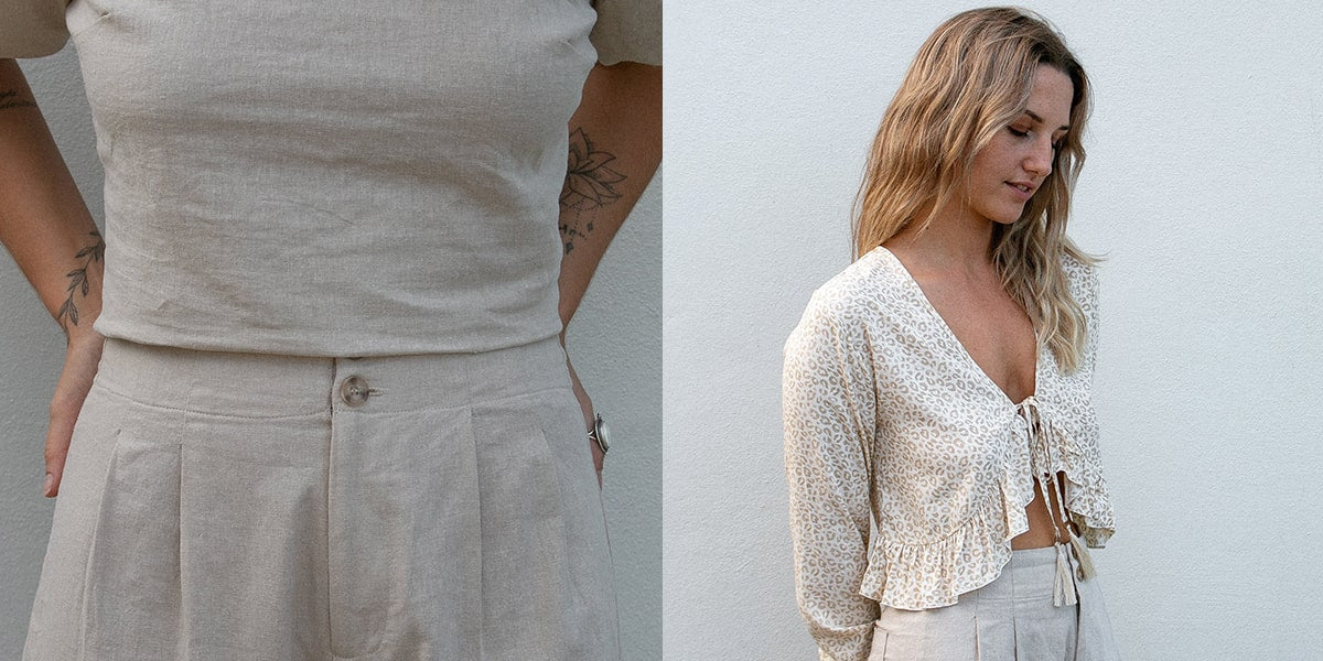 Dreamers & Drifters linen pants and cheetah top