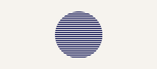 Navy Trader Co Geometric Sun Illustration