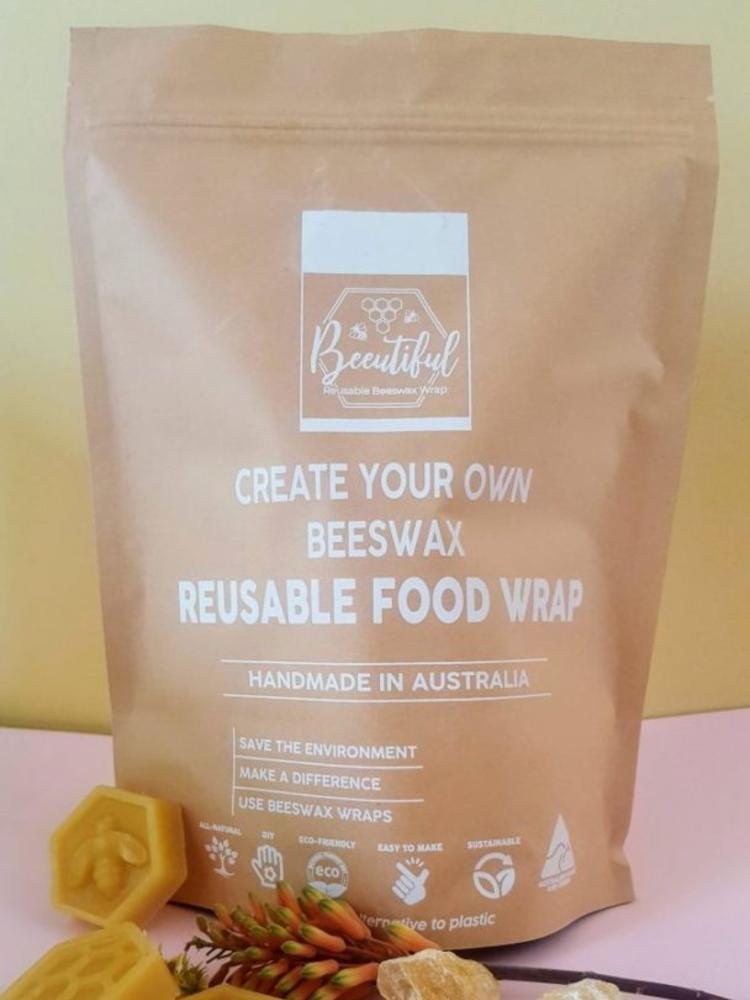 kraft bag of diy reusable food wrap