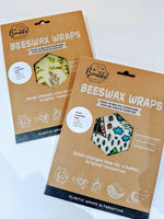 Two kraft packets of beeswax wraps