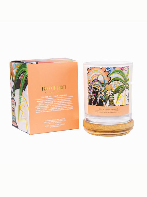 Frankie Gusti spicy dragonfruit candle