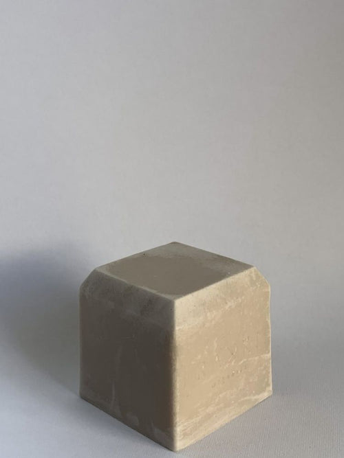 Single cube of natural and eco friendly soap