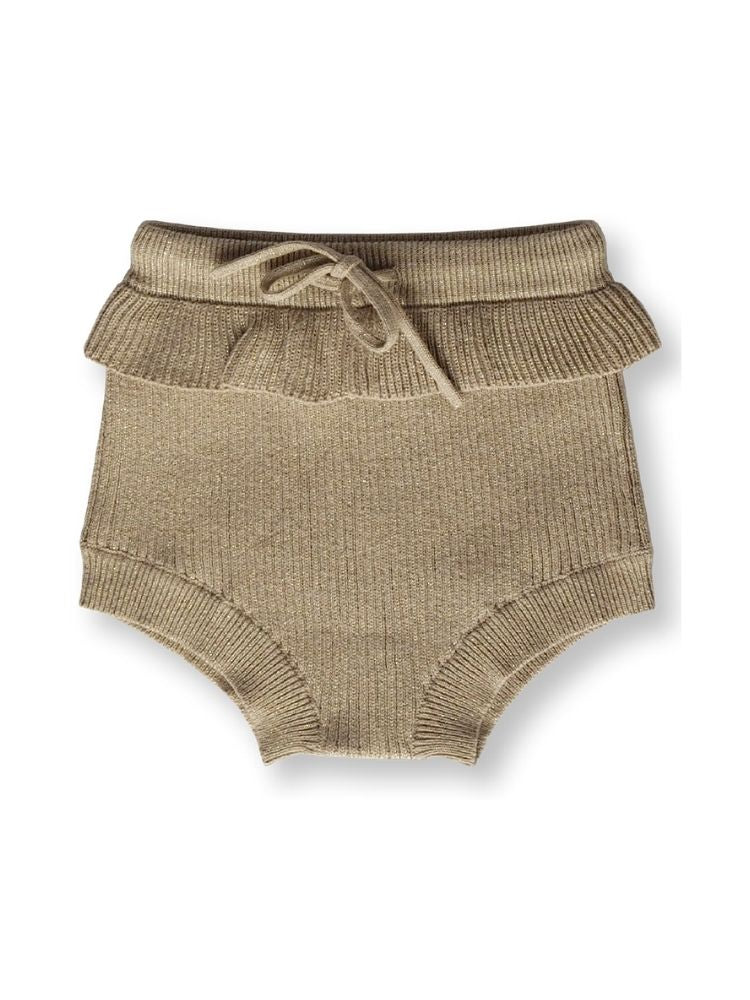 Cute gold bloomers in a flat lay style