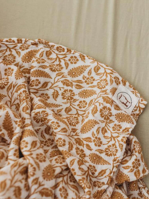 Halo and Horns organic bamboo jersey swaddle