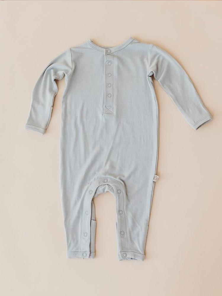 Long sleeved baby onesie in light blue by Halo and Horns