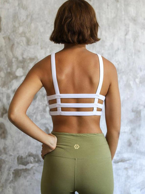 Back view of the Indigo Luna Store Boxy Crop in White