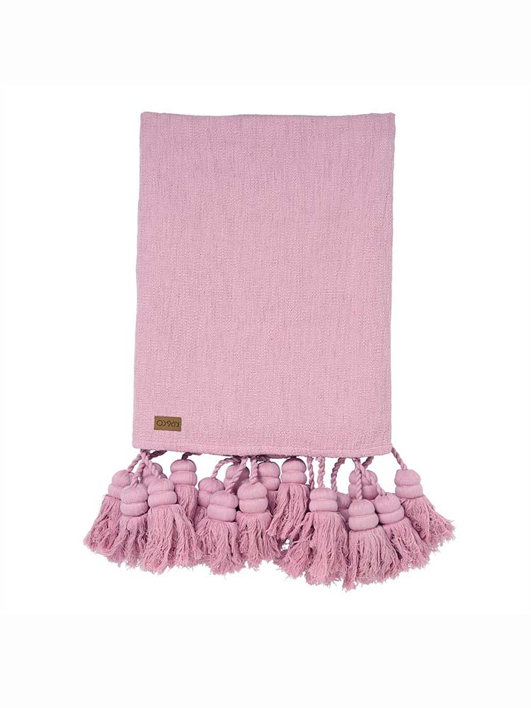 Kip And Co Lilac Tassle Throw