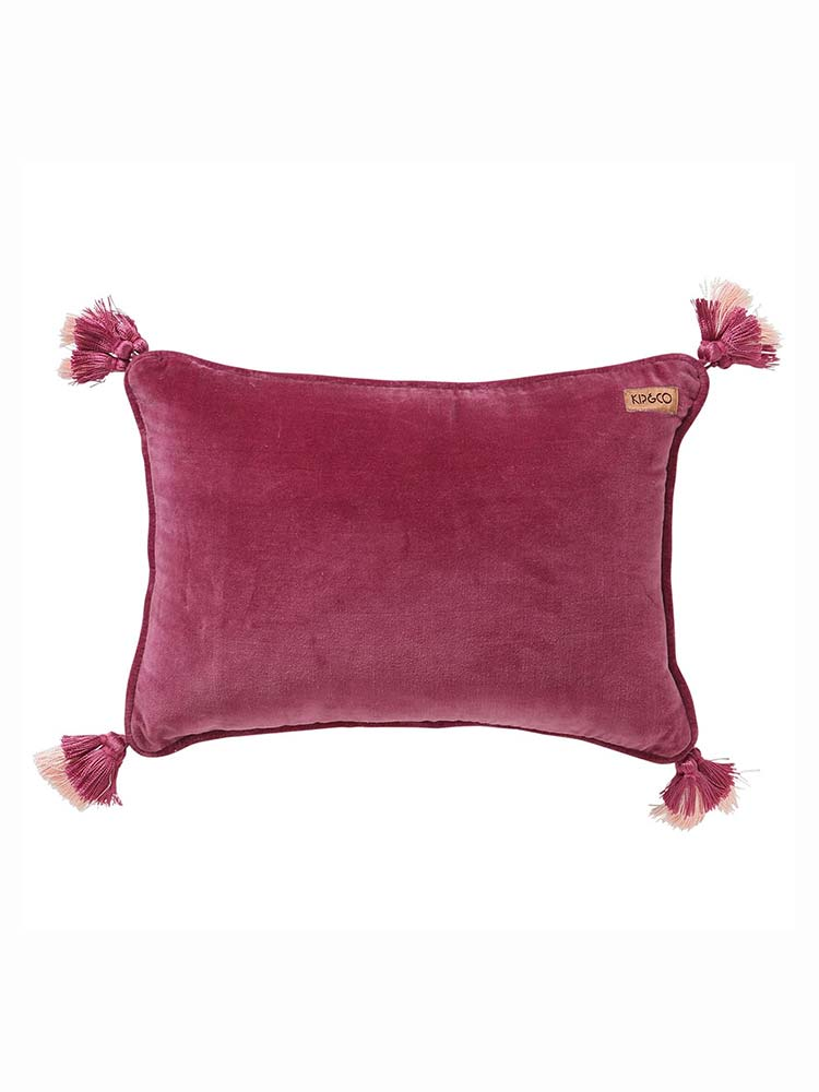 Kip & Co dark pink velvet souk cushion