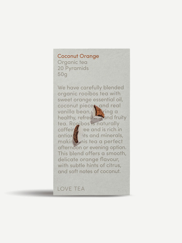 Love Tea Coconut Orange Organic Pyramid Tea Bags 20